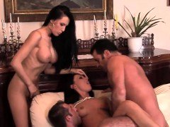 Hot foursome session with Valentina and besides Mela