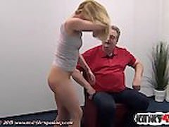 Hot adult video star spanking and ejaculation