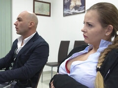 Sexy schoolgirl is having special lessons