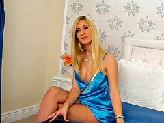 hot blonde satin female