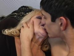 Horny grandma gets fucked by her toyboy
