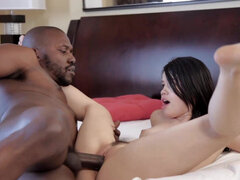 Yhivi takes dad's monster black cock & thick nut in besties share everything