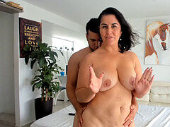 Voluptious honey pounds and Sucks Her paramour