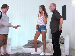 Ariana Grand taking two old dicks at the same time