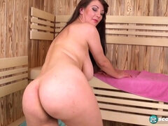 Sweets Hairy Pussy The Big Saggy Boobs And Bush Sauna - solo