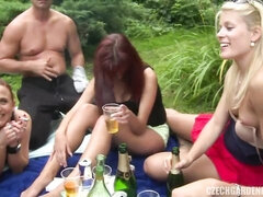 Sex-addicted Euro girls are showing off their oral skills at the party