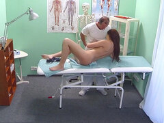 Sexy student plowed all over doctor's office