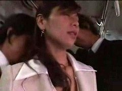 Japanese Gal Forced On Train