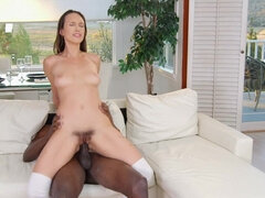 Jade Nile swallows and gets pounded hard by monster bbc