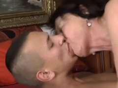 Dirty MILF seduced stepson to fuck in hard way