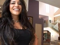 Latina Kitten Jenaveve Jolie does Blowjobs and additionally rents her House