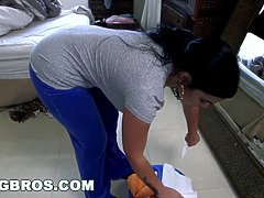 Big ass Cuban maid Destiny gets fucked