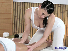 Great massage comes with lots of oil and rod pleasuring action