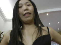 Sweet slender Oriental chick ass fucked by a huge cock