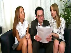 Teacher Punishes Lascivious Babes Sophie & Ellie