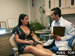 Randy brown-haired with thick bumpers, Angela got her daily dosage of plumb until she came