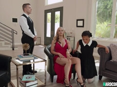 Baroness Sarah Vandella hot interracial threesome