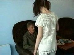 Grandpa Getting down and dirty Young-looking Maid