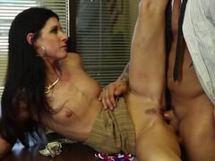 India Summer wants cock in the office and she gets it