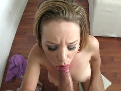 Hot whore sucks rod of huge boy and furthermore receives drilling as a reward