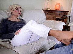 Nicole tights Footjob