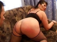 Bbw old on couch