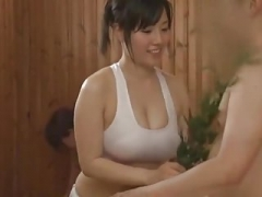 Azusa Nagasawa in Sauna Dame Occupation Part 2