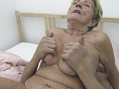 Youthful lad fucks granny