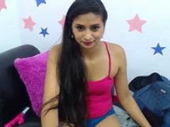 Indian girl is desirous to tease in and moreover touch her self in front of webcam