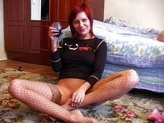 Drunk redhead amateur babe gets fucked