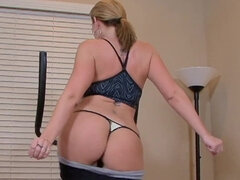 Busty housewife Sara Jay sexercise in pov with her muscle hubby