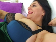 English & large titted mom i`d like to fuck Sabrina needs a dildo fucking