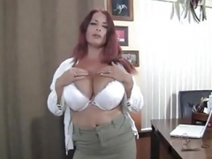 British Large Tits Grown-up Redhead