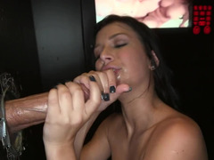 First-class gloryholeaction with two love tools and a talented gal