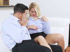 Kimmy Fabel intense fucking and taking a creampie deep inside
