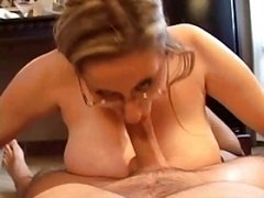 Huge Titted Four Eyed Cunt Kitty Rides And also Slurps