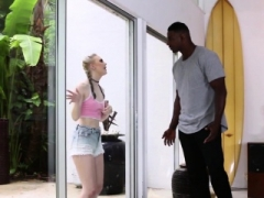 Gigantic Purple pole Black Man Boning Lily Rader