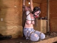 Terra Mizu - Jeans on her Knees (bondage)