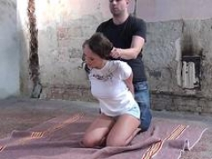 Smoking hot submissive getting groped by maledom