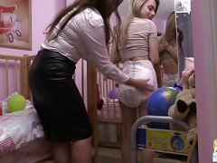 Betty changes Chloe's oozy Attends Specialized Care diaper