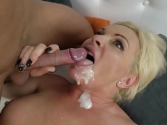 Matures and furthermore grannies cummed on - ejaculation compilation
