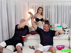 FamilyOrgasm.com - Uncle and Niece SuperBowl visible intercourse