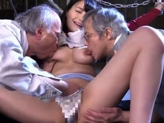 Godlike buxomy asian maried woman in group sex porn video