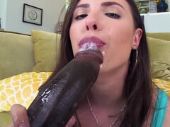 Good looking brunette Casey Calvert needs some interracial fun