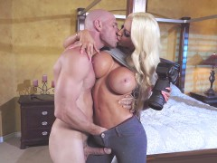 Nicolette Shea was caught by Johnny Sins spying on him