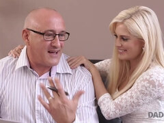 DADDY4K. Blond Hair Lady cutie wants to have hot babe copulation with...