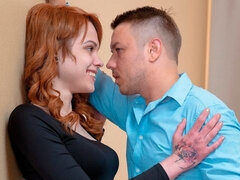 Very hot tattooed redhead chick Mary Solaris screwed by a big dick