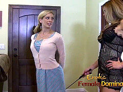 Mature blonde predominant a beautiful she-creature with a big strap-on-6