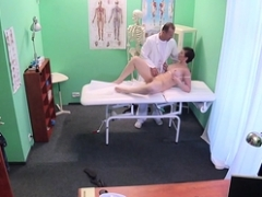 Doctor creampied milf cunt in hospital