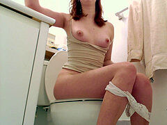 point of view: Bored gf overlooks you on the Toilet